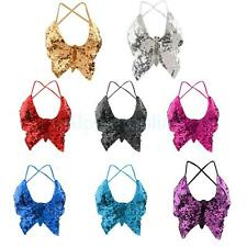 Phenovo Belly Dance Butterfly Top Bra Sexy Dancing Costume Stunning Multi Color