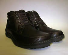 "Mens Hush Puppies ""Grounds Lace"" Brown Leather Lace-Up Boot"