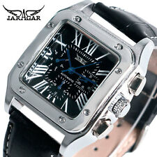 JARAGAR Auto Date Army Square Shape Military Automatic Mechanical Wrist Watch