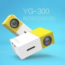 YG300 Mini Portable LED Projector HD 1080P Home Theater/Cinema USB HDMI AVC G7Y5
