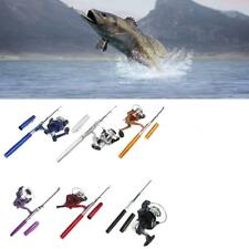 Portable Mini Aluminum Pocket Pen Shape Fishing Fish Rod Pole + Fishing Reel Hot