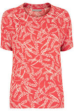 Ann Harvey Womens Orange Cinnamon Print Top - Up To Size 28