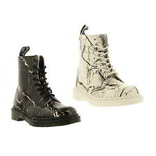 Dr Martens 1460 Pascal Marble Womens Patent Leather Ankle Boots Size 4-8