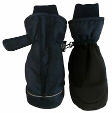 NICE CAPS Kids Boys Girls Toddler Thinsulate Waterproof Easy On Zip-Up Mittens