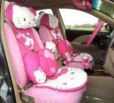 28PCs Dark Pink&Rose Hello Kitty Car Accessories Car Seat Covers For Gift Women