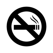 No Smoking Sign Logo Vinyl Decal Sticker - Choose Size & Color