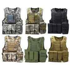 Military Vest Army Tactical Assault Combat Swat Camouflage Camo Hunting Molle