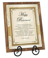 Happy Retirement Walnut Plaque Coworker Colleague Boss Friend Farewell Retiring