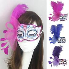 Party Mask Costume Venetian Masquerade Mardi Gras Feather Wedding Quince Mask