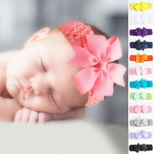 Baby Kids Girls Toddler Lace Bowknot Headband Hair Band Headwear Accessories