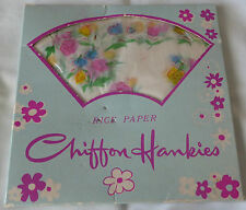 Vintage Hankies rice paper,35,disposable,Japan,despencer box,handkerchief,flower
