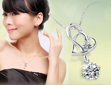 New Delicate Crystal Necklace Pendant Heart  With Heart Modish Style