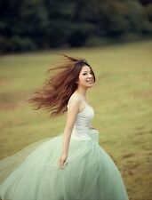 Celebrity Princess Fairy Style 5 layers Bouffant Dress Tulle Skirt Ball Gown