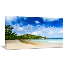 Seychelles Tranquil Tropical Beach Photographic Print on Wrapped Canvas