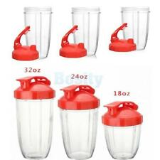 18/24/32oz Juicer Blender Extractor Cup + Red Flip Lid for Nutribullet Home Use