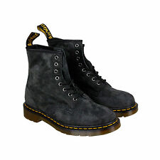 Dr. Martens 1460 8 Eye Boot Mens Gray Nubuck Casual Lace Up Boots Shoes