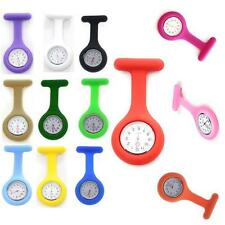 Cute Lovely  Silicone Case Nurse Medical Doctor Watch Brooch Tunic Watches