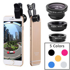 Universal Fish Eye Wide Angle Macro Quick Camera Lens 3 In 1 For iPhone Mobile