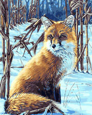 Portrait Of Red Fox Needlepoint Canvas