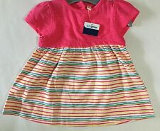 Baby Girl Dress with Pink Top and Multi Coloured Stripe Skirt
