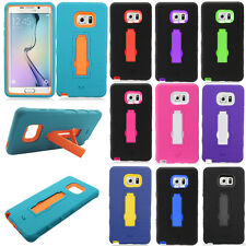 For Samsung Galaxy Note 7 IMPACT Hybrid Hard Rubber Case Phone Cover Kickstand