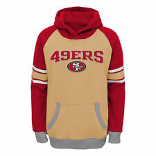 San Francisco 49ers Youth Fan Gear Robust Pullover Hoodie - Gold/Scarlet - NFL