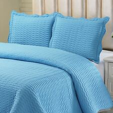 Simple Elegance New York 3 Piece Full/Queen Stiched Quilt Set