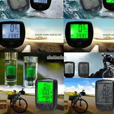 Waterproof Bicycle Bike Cycle Wireless LED Digital Computer Speedometer Odometer