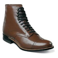 Stacy Adams Brown Madison Ankle Boot Biscuit Wide Cap Toe Lace Up  00015-02 E