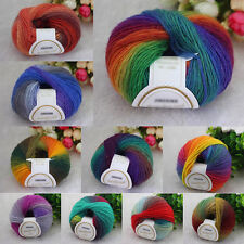 50g Super Soft Natural Wool Smooth Baby Sweater Gloves Yarn Knitting Ball DY