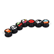 Pair Silicone Cartoon Logo Ear Plugs Tunnels Ear Expanders Gauges 6-14mm Jewelry
