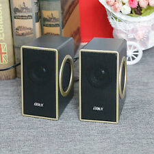 Portable New Stereo Bass Multimedia Speakers USB Powered for Laptop Desktop PC