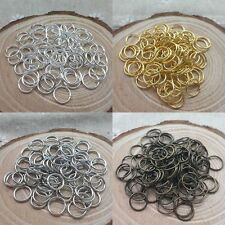 2000 PCS Wholesale Silver/Gold Plated Open Metal Jumping Rings Finding 4/6/8mm