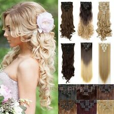 8 Piece Long Curl/Curly/Wavy Hair Extension Clip-on 140 Full Head Clip In On JD1