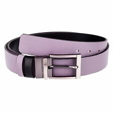 Reversible Belts for Men Womens belts Thistle purple Black leather by Capo Pelle