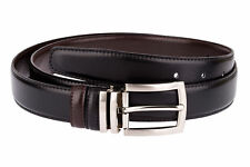 Reversible Belts for Women Men Suit Brown belt Black leather Narrow Capo Pelle