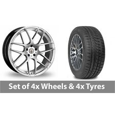 "4 x 20"" Cades Bern Accent Silver Alloy Wheel Rims and Tyres -  225/35/20"