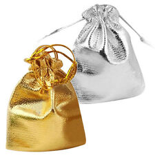 25pcs Drawstring Organza Favour Wedding Candy Gift Pouch Bags Silver C1
