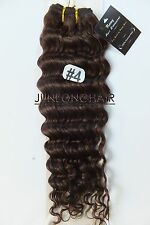 100g 150g Brown Curly Wavy Virgin Real Human Hair Extension Weft Weave Full Head