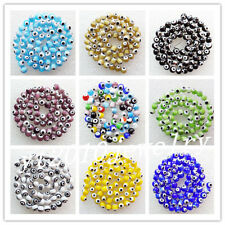 6mm Beautiful Mixed Color Millefiori Glass Round loose bead 15.5 inch x1009