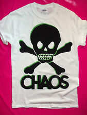 PUNK ROCK CHAOS + SKULL ANARCHY t-shirt seditionaries sex pistols repro print