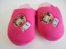 Girls Minnie Mouse Pink Slippers UK C8 - C13 (R19B)