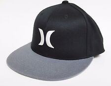HURLEY COLORED UP Hat 210 FITTED Grey Black ($28) NEW Cap Surf Skate Ski FLEX