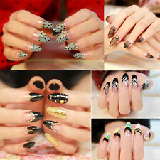 Women Girl Beauty Nail Art ABS False Stilettos Sharp Tips Kits Nail Care 3 Types