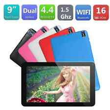 """Tablet 9"""" Android 4.4 A33 Wifi Bluetooth Quad Core 16GB Dual Camera PC 5 Colors"""