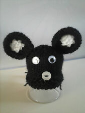 EGG Cosy COSIES Knitted Black  Mouse, Rabbit, Pig, Dog, Bonnets, Hen, Great Gift