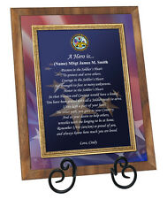 Army Military Gift Retirement Recognition Plaque Soldier Birthday Away Award
