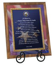 Navy Military Gift Retirement Plaque Soldier Birthday Award Father Naval Sailor
