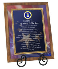 USAF Gift Air Force Plaque Retirement Homecoming Discharge Going Away Soldier