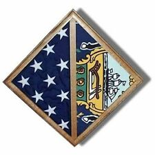 2 Flags display case - Wall Mounted box Hand Made By Veterans